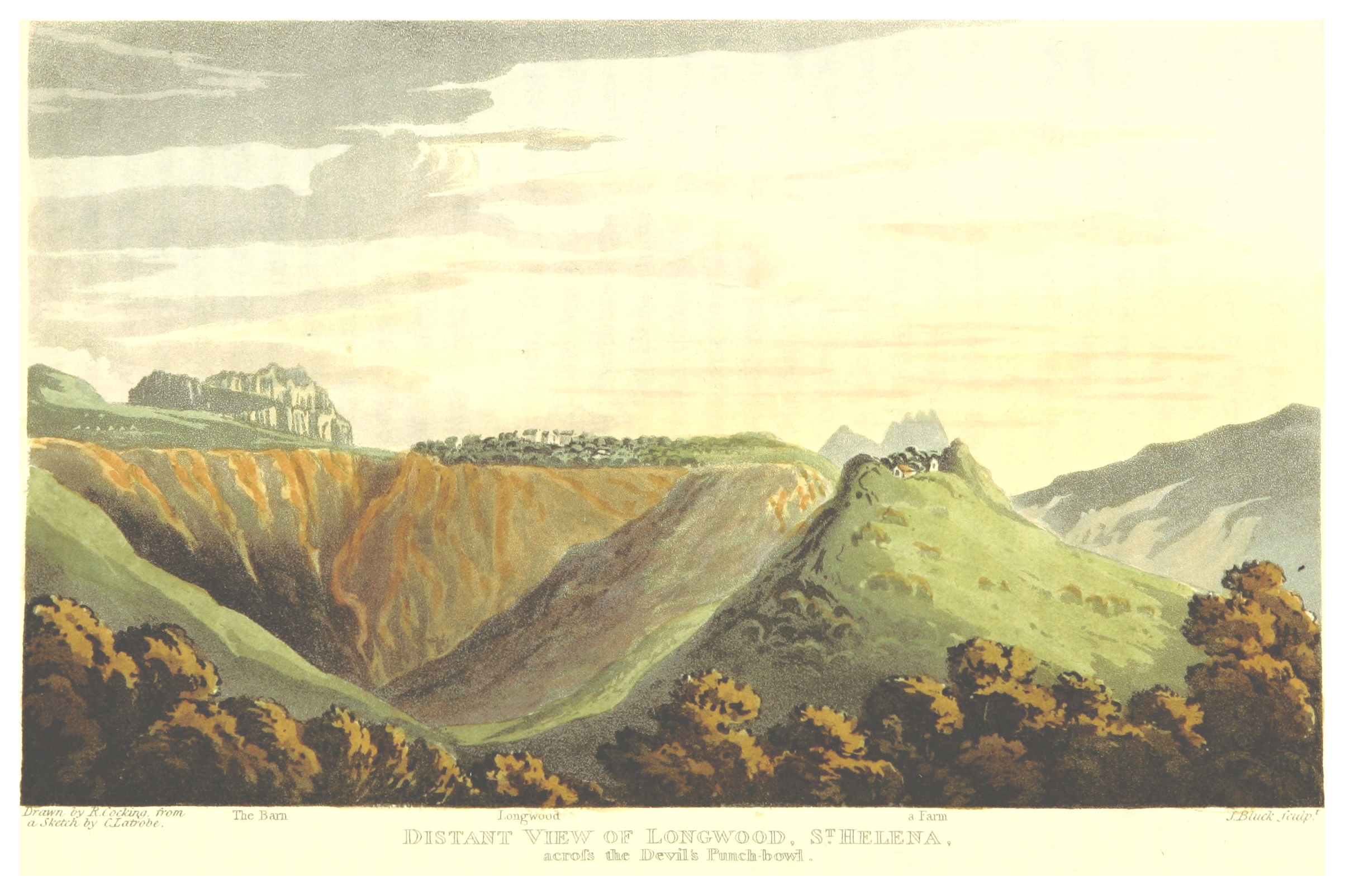 Visite, pg417 Distanz view of Longwood, St. Helena.jpg