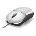 Computer mouse with scroll wheel