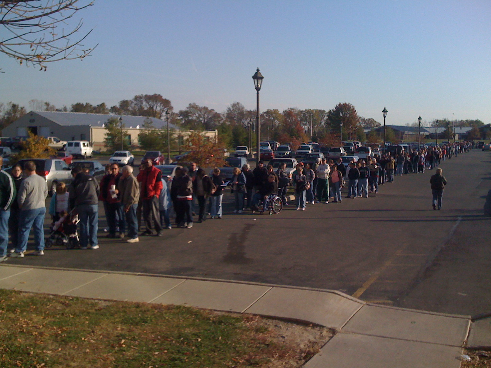 Ohio Voters lining up in 2008