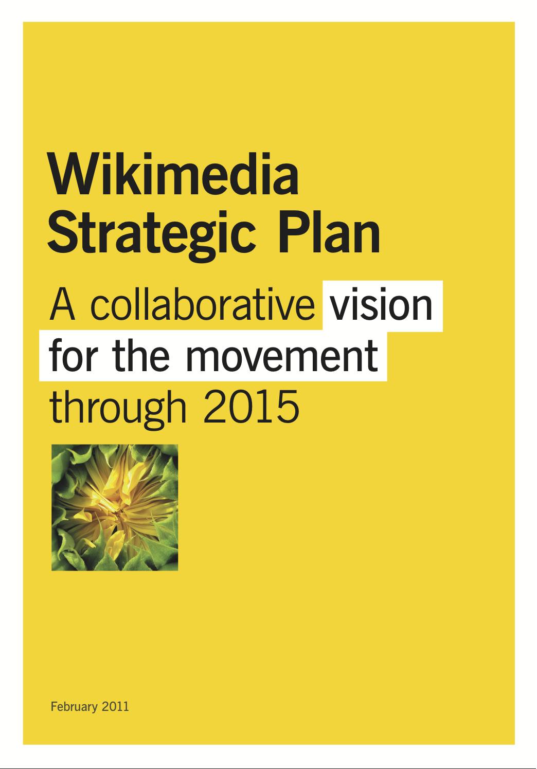 Wikimedia strategic plan