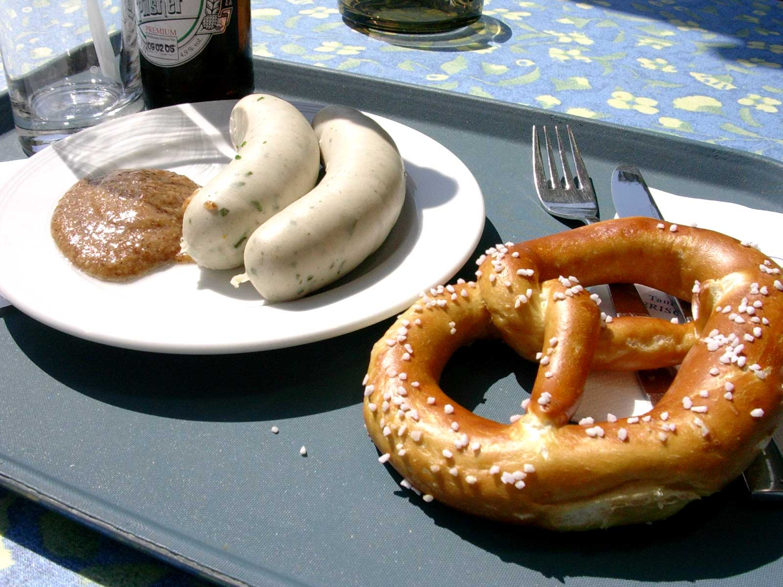 Weisswürst with Brezen and Senf