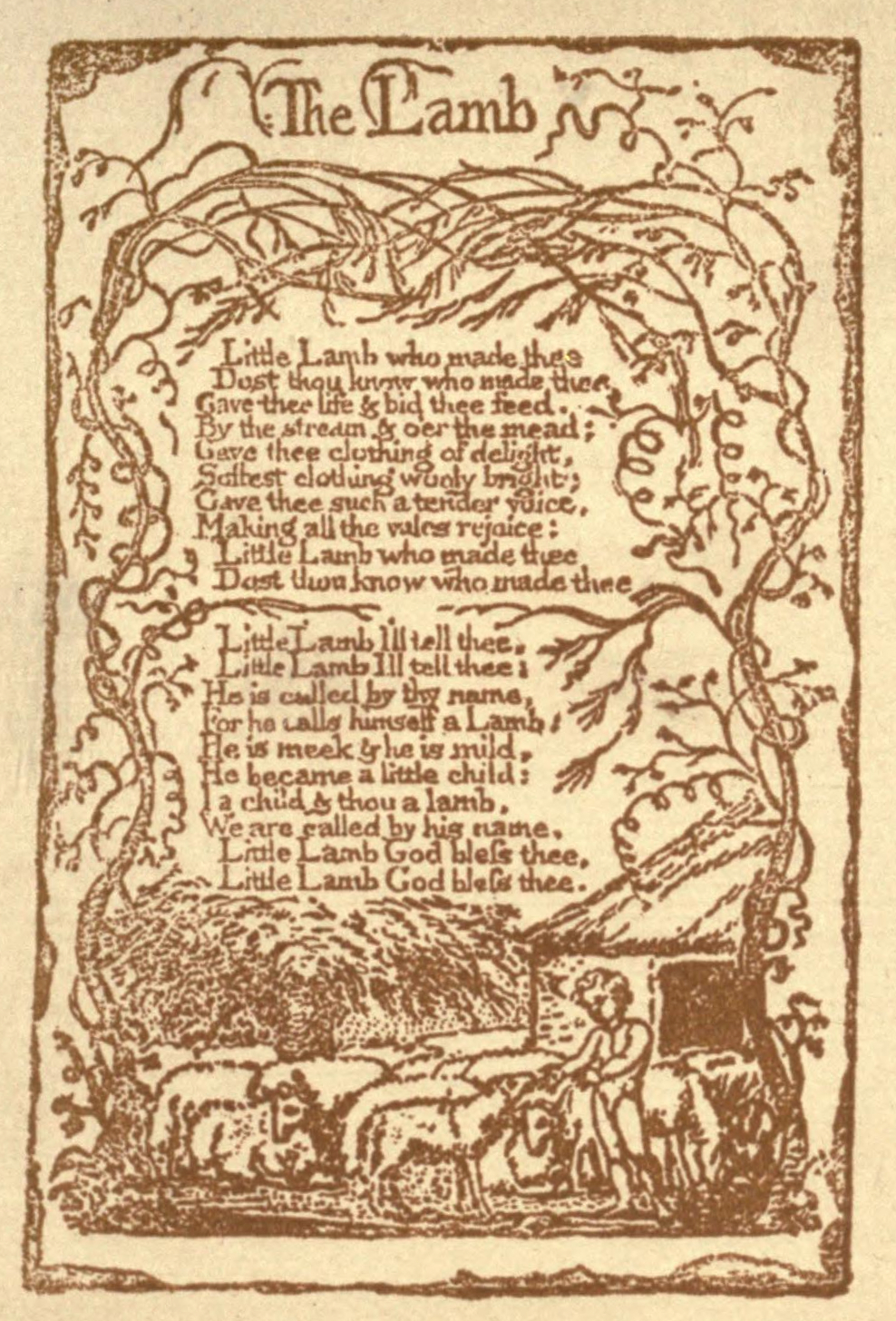 "the gentle lamb and the menacing tyger in songs of innocence and experience by william blake In this counterpart poem to ""the lamb"" in songs of innocence, blake experience of reading the tyger of innocence and of experience by william blake."