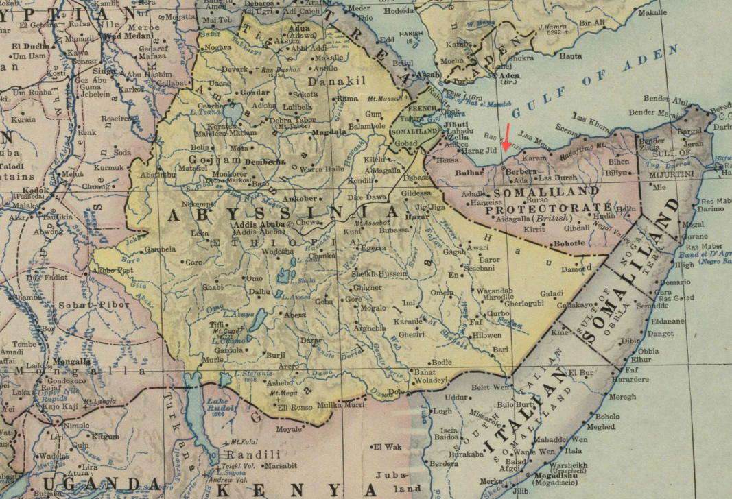 file1922 berbera detail map of africa and adjoining portions of europe and asia by