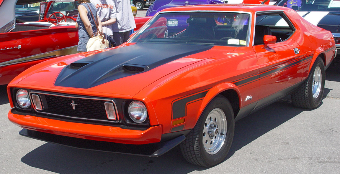 bestand 1973 ford mustang orange jpg wikipedia. Black Bedroom Furniture Sets. Home Design Ideas