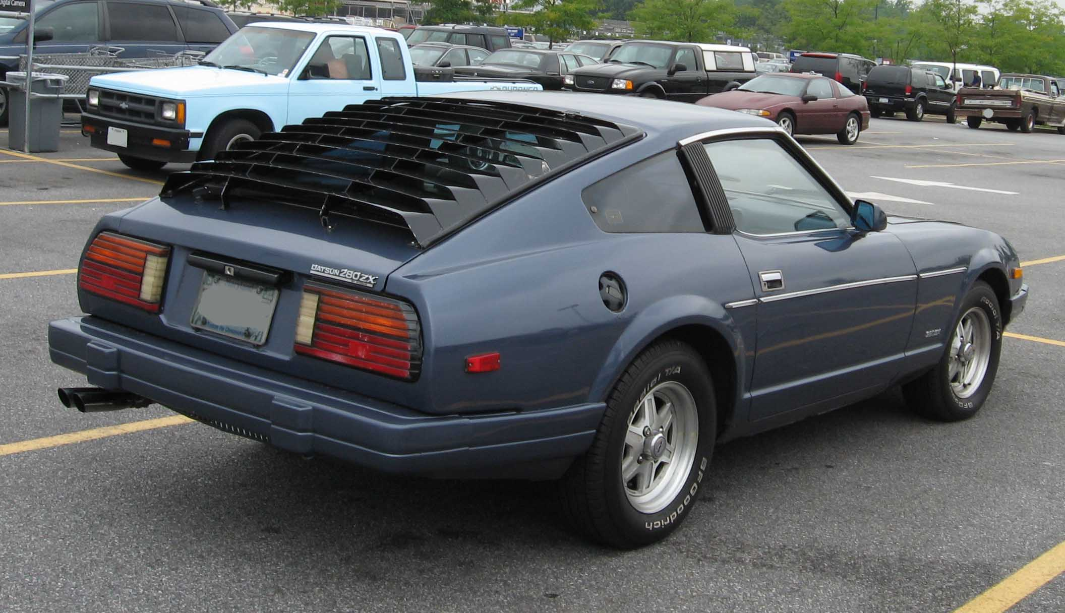 File 79 83 Datsun 280zx Rear Jpg Wikimedia Commons