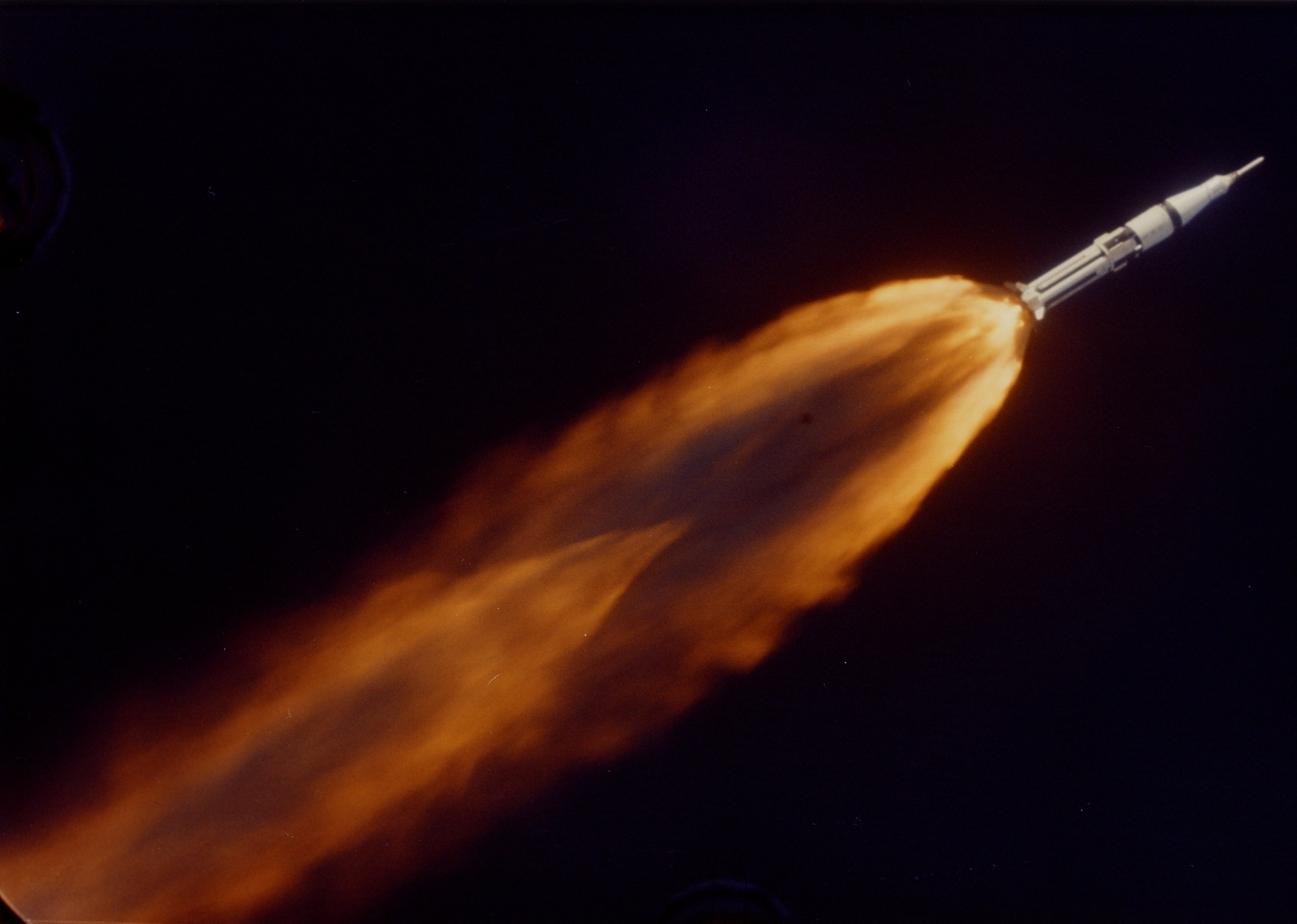 The Saturn Launch Vehicle, carrying the Apollo 7 ...