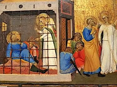 Apostle Peter Released from Prison, Jacopo di Cione, 1370-1371 (Philadelphia Museum of Art) Apostle Peter Released from Prison, Jacopo di Cione, 1370-1371 (Philadelphia Museum of Art).jpg