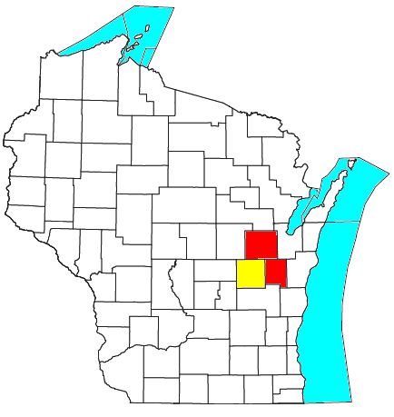 Location of the Appleton-Oshkosh-Neenah CSA and its components: Appleton Metropolitan Statistical Area Oshkosh-Neenah Metropolitan Statistical Area Appleton-Oshkosh-Neenah CSA.png