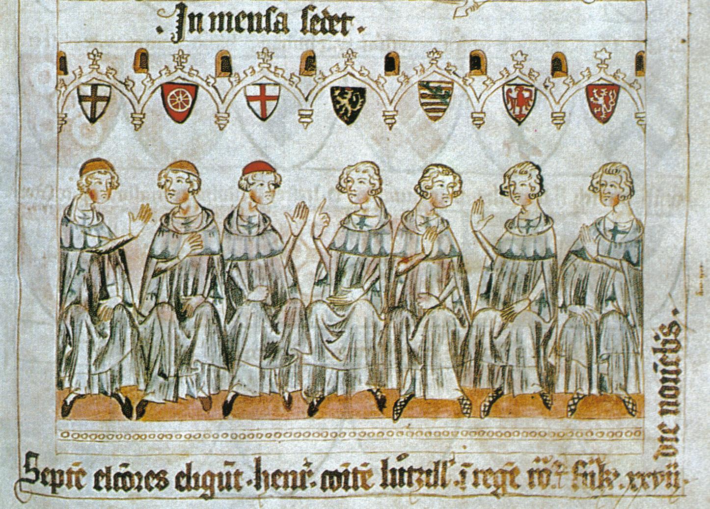 Los siete príncipes electores eligen a Enrique VII.
