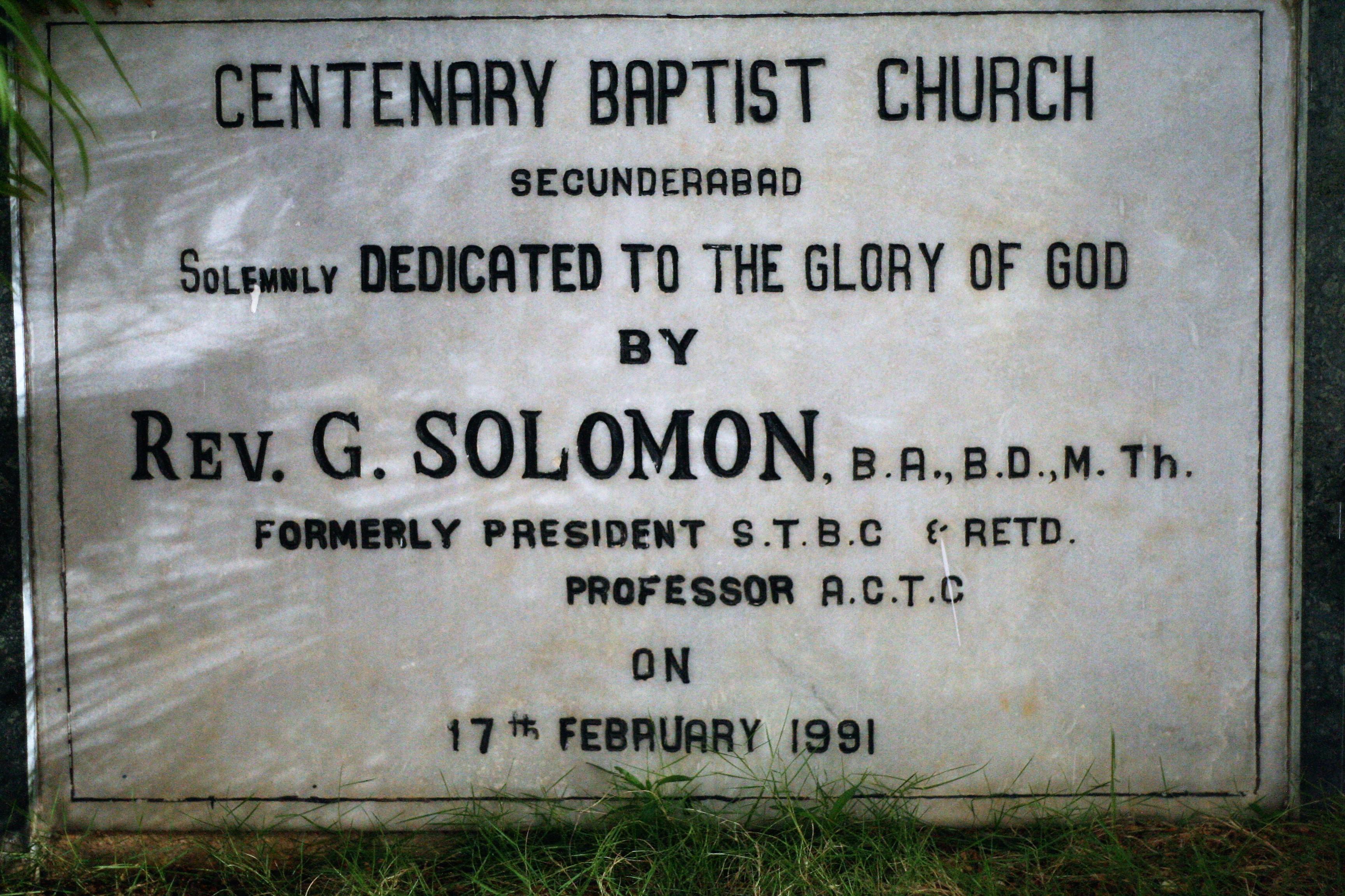 Gaddala Solomon - Wikipedia
