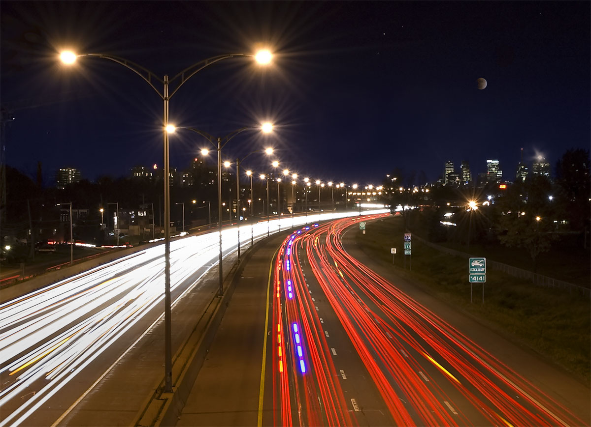 File car light trails in montreal jpg wikimedia commons