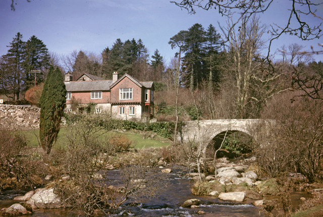 Dartmeet Bridge, Dartmeet, Devon taken 1964 - geograph.org.uk - 774719