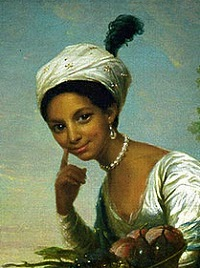 Painting of a young women