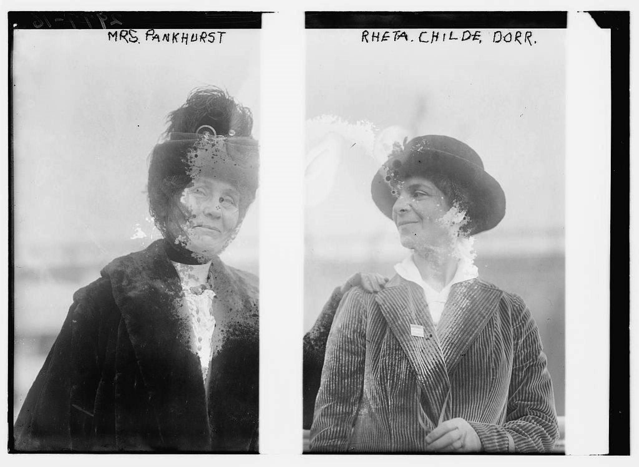 Emmeline Pankhurst and Rheta Childe Dorr