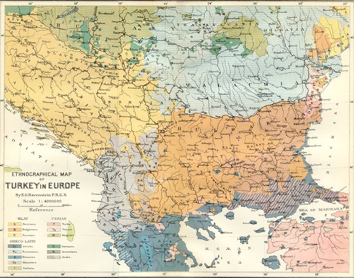 File Ernst Ravenstein Balkans Ethnic Map 1880 Jpg Wikipedia