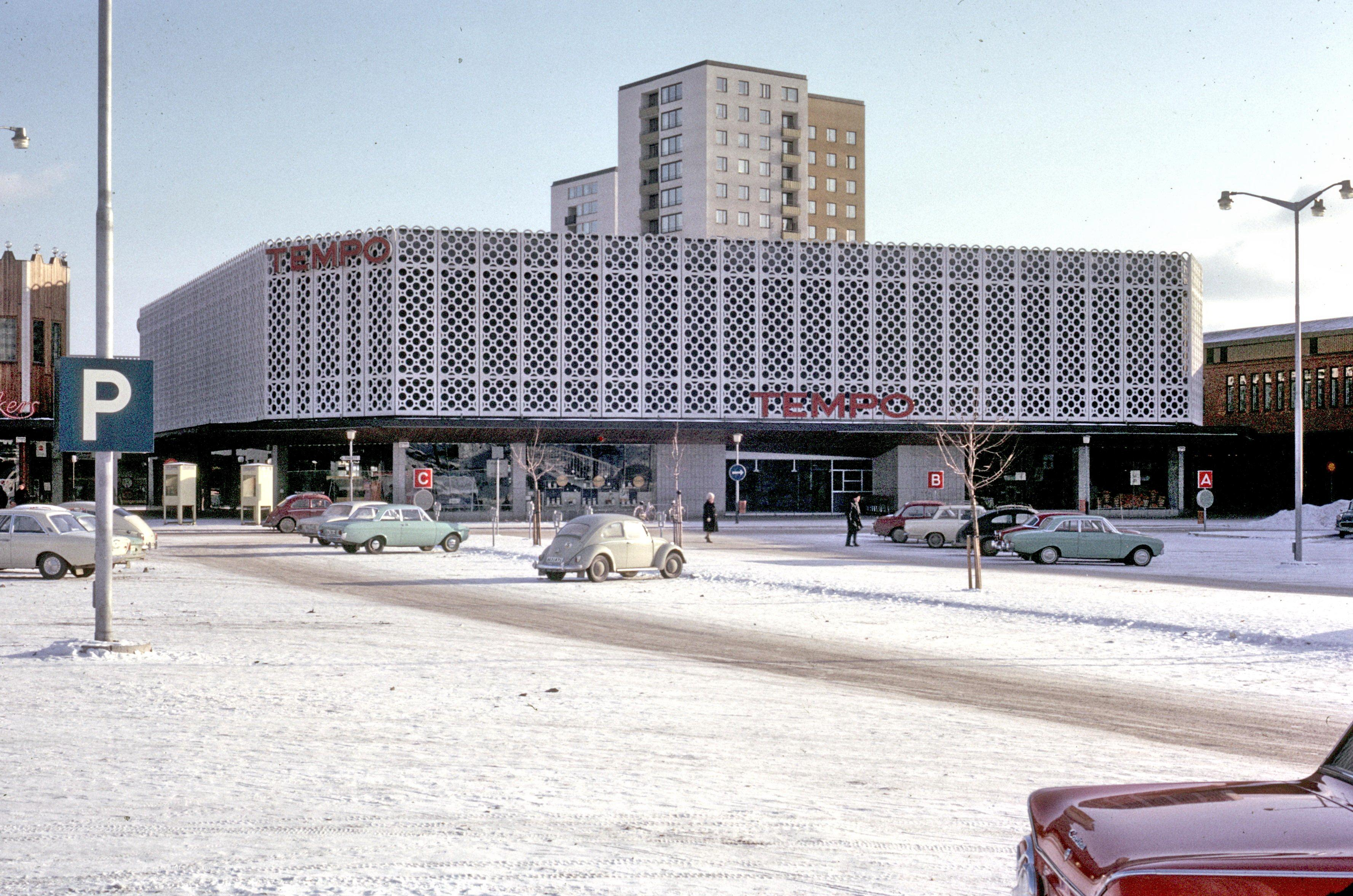 File Facade In New Shopping Center In Farsta Suburb Of
