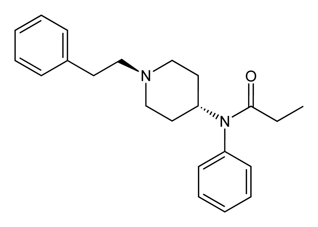 Descrizione Fentanyl-2D-skeletal-A pngFentanyl Structure