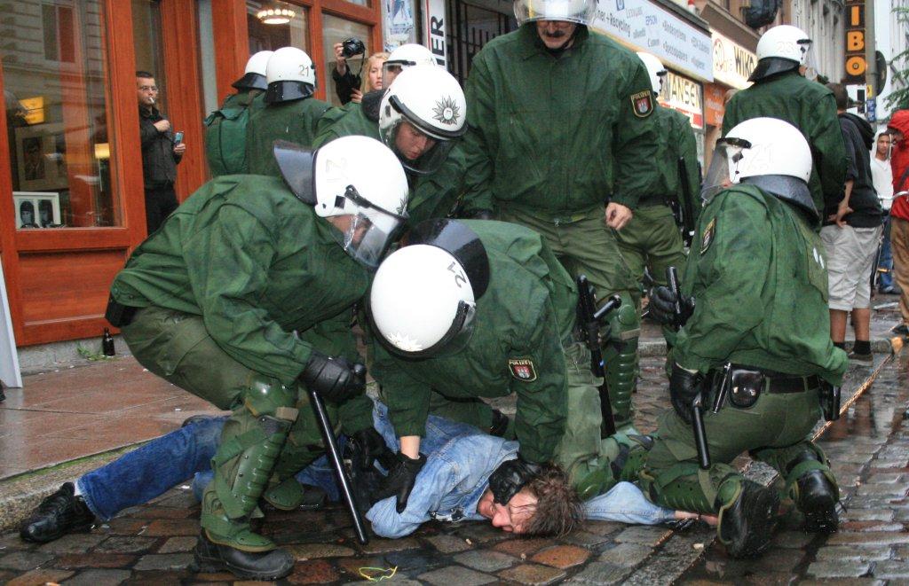 Festnahme in Hamburg - Quelle: Wiki Commons