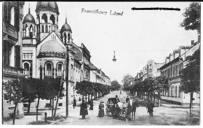 Celkový pohled na synagogu, okolo r. 1900