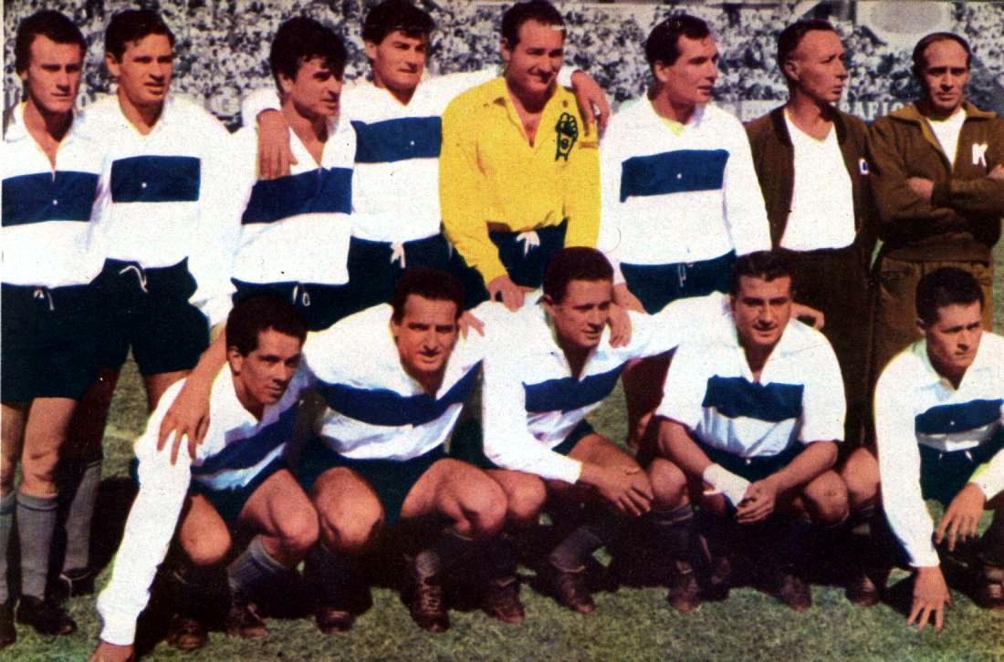 Formación del Gimnasia y Esgrima La Plata campeón de la Copa Alende de 1960