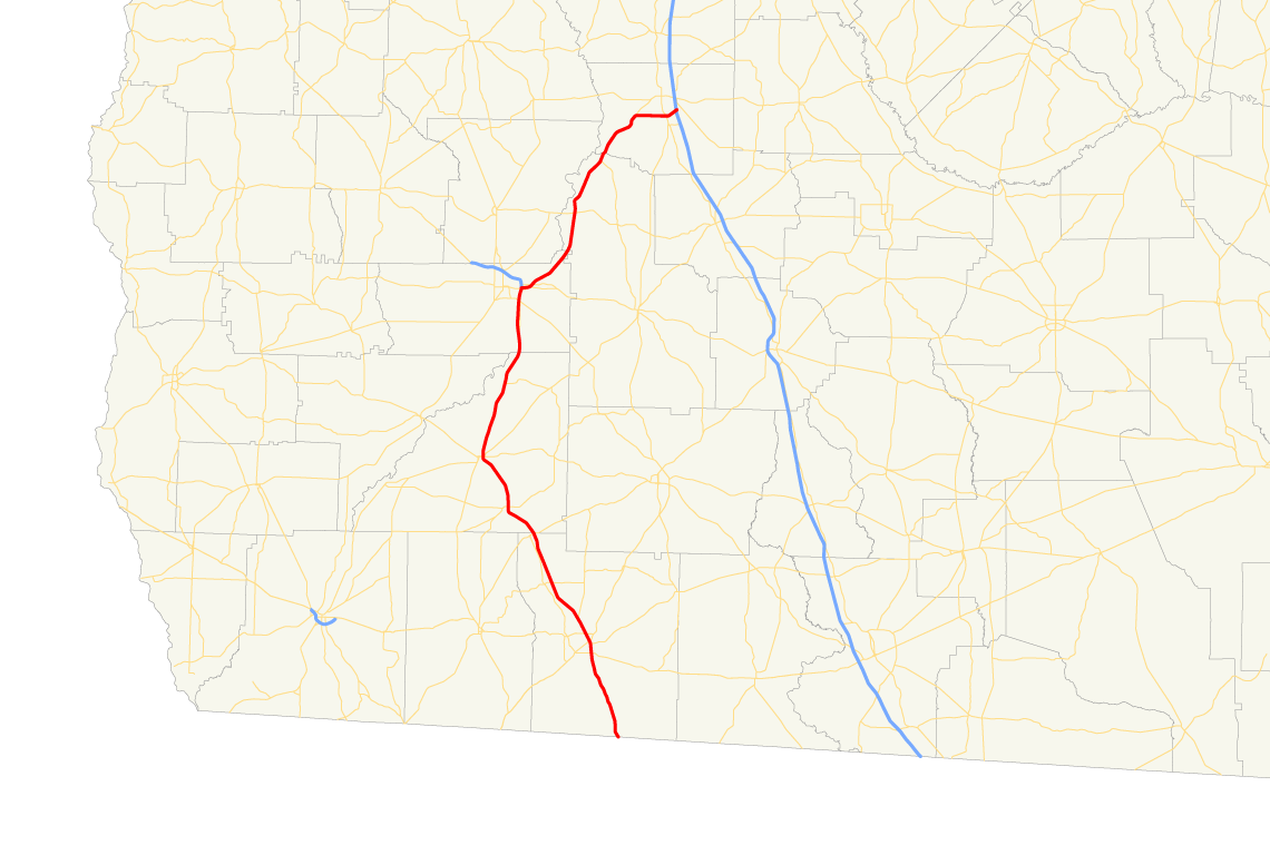 Map Of Georgia Hwy 75.Georgia State Route 300 Wikipedia