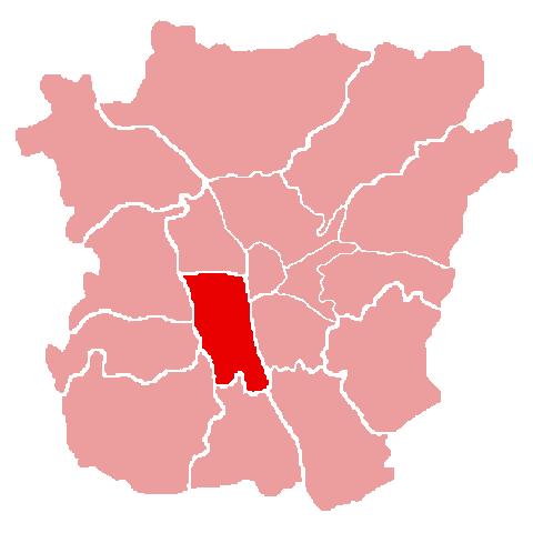 Lage des Bezirks Gries