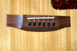 why does a guitar bridge terminate each string with a different length guitar. Black Bedroom Furniture Sets. Home Design Ideas