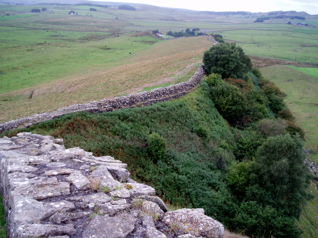 File:Hadrian's Wall at Cawfields - geograph.org.uk - 244235.jpg