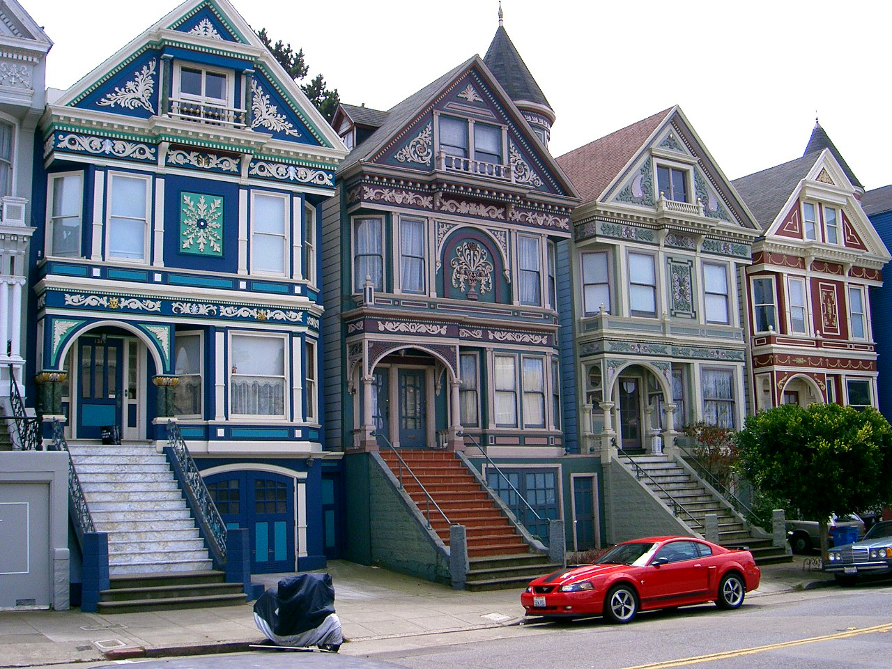 File haight ashbury11 jpg wikipedia for San francisco victorian houses