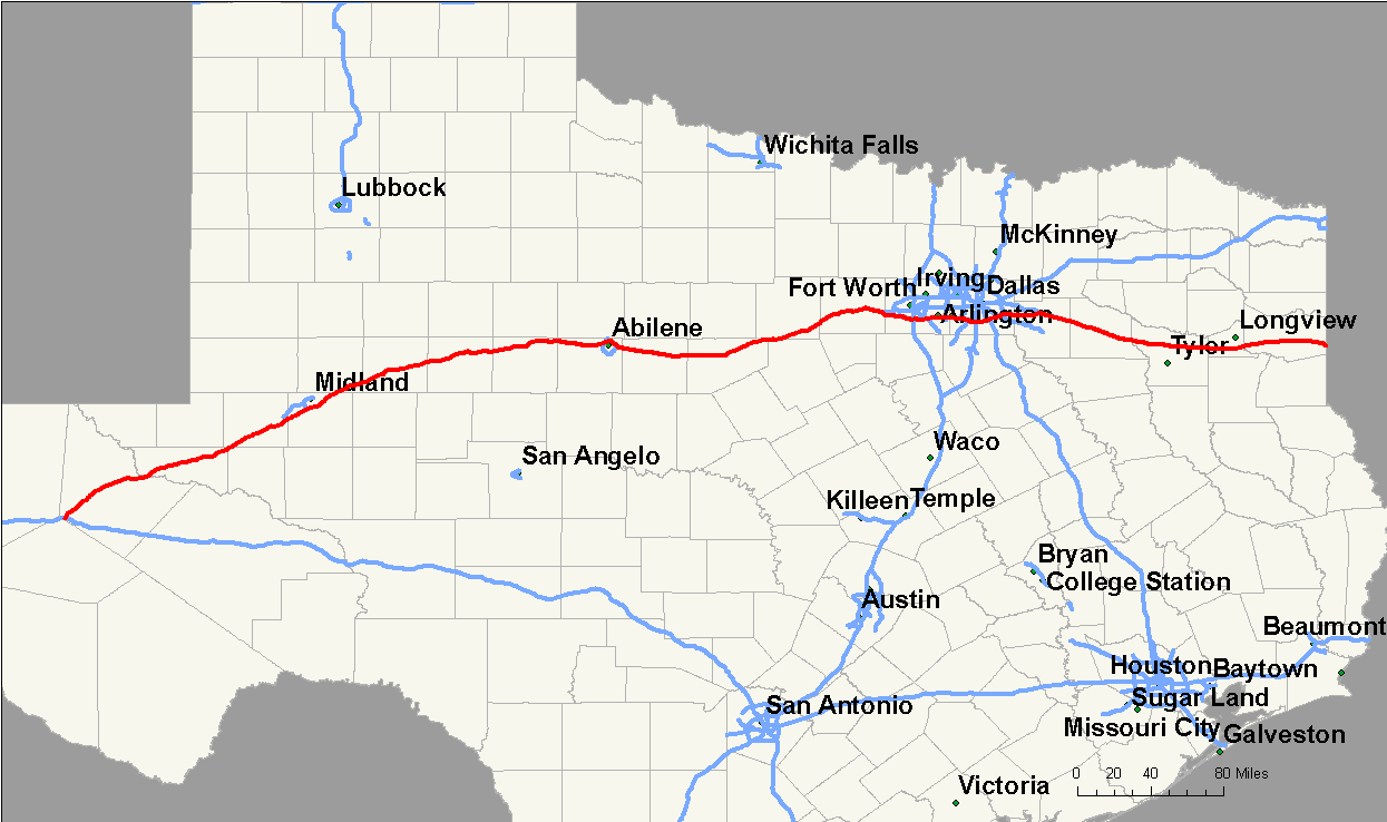 Map Of Texas Interstates