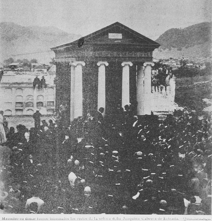 Tumba de la familia Estrada Cabrera en Quetzaltenango. La Locomotora, 1906.