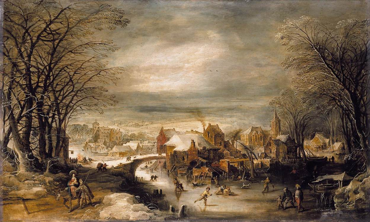 Winter in the paintings of different artists