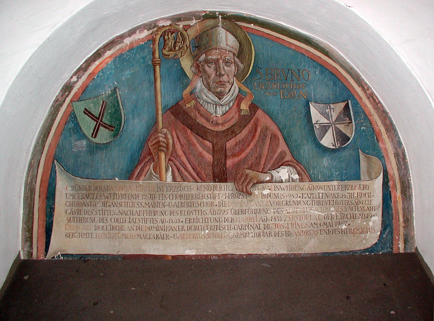 Darstellung des Erzbischof Brun in St. Andreas, Köln