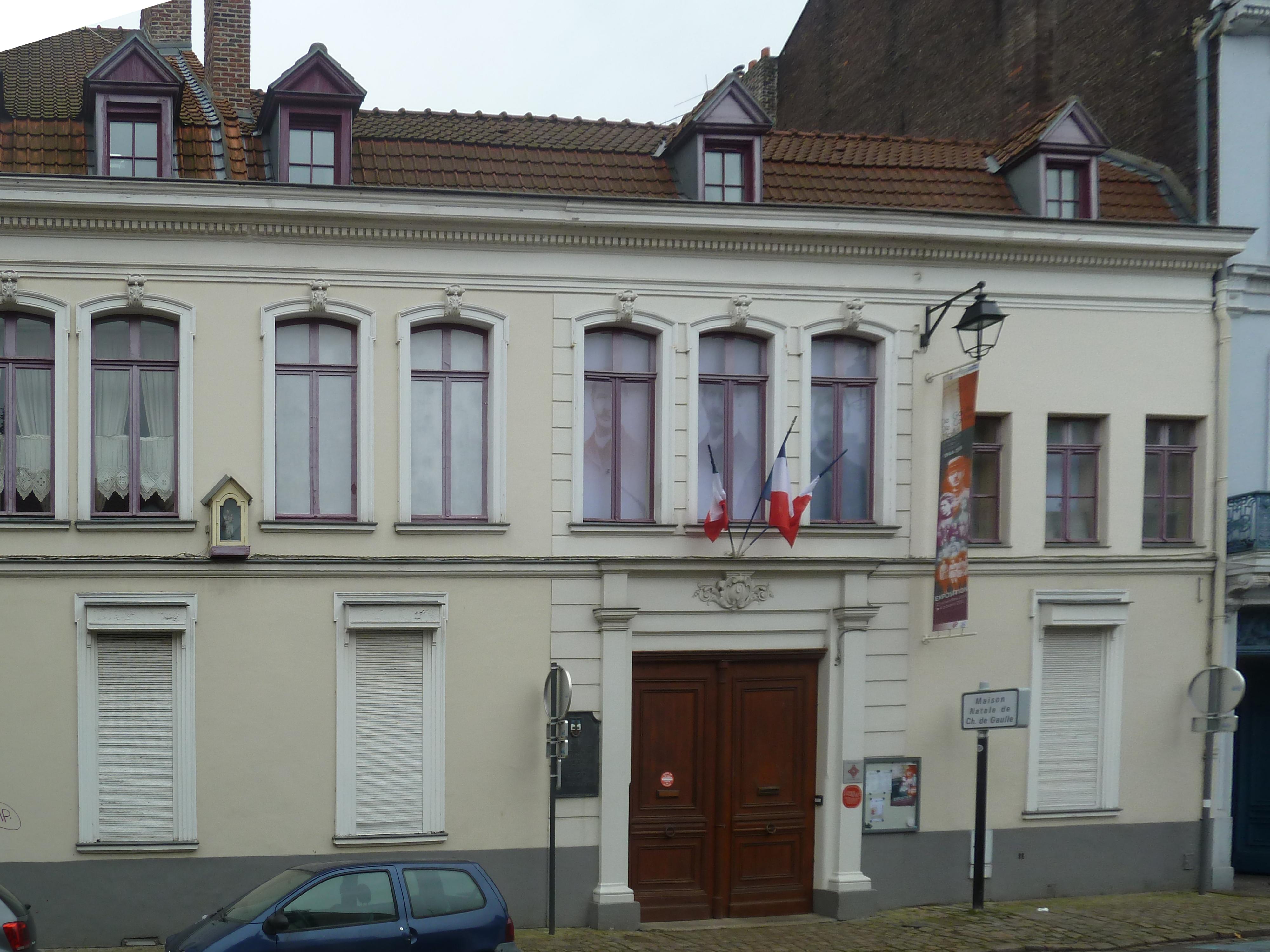 File lille maison natale de charles de gaulle pa00107904 for 82 rue brule maison lille