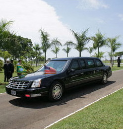 From http://commons.wikimedia.org/wiki/File:Limousine_of_the_President_of_the_United_States.jpg: Limousine of the President of the United States