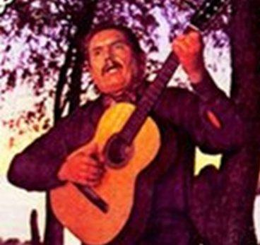 Linares Cardozo, tapa del álbum ''Dos ríos y un solo amor'' (1980).