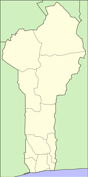 a map of benin. File:Location map Benin.png