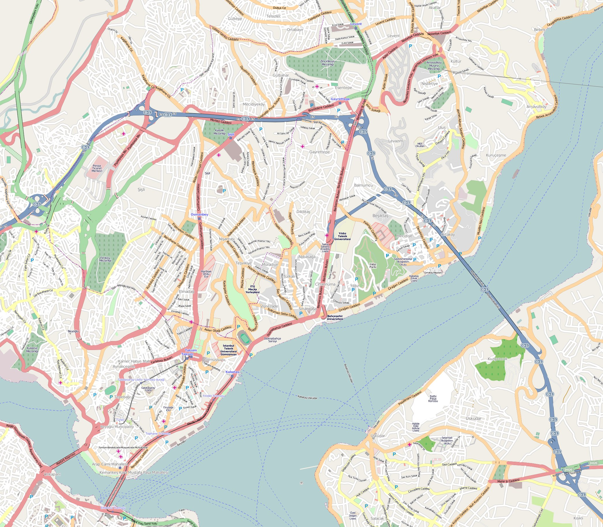Istanbul Map Sisli