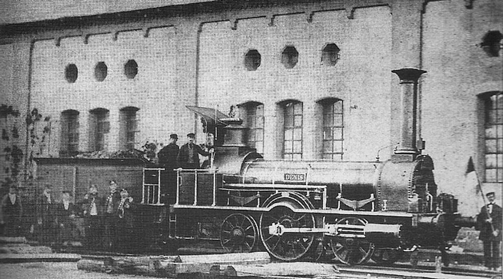 Versunkene Lokomotive Rhein