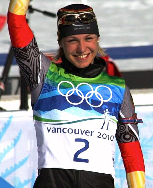 Deutschland ist eine der erfolgreichsten Nationen der Olympischen Winterspiele (Biathletin Magdalena Neuner).