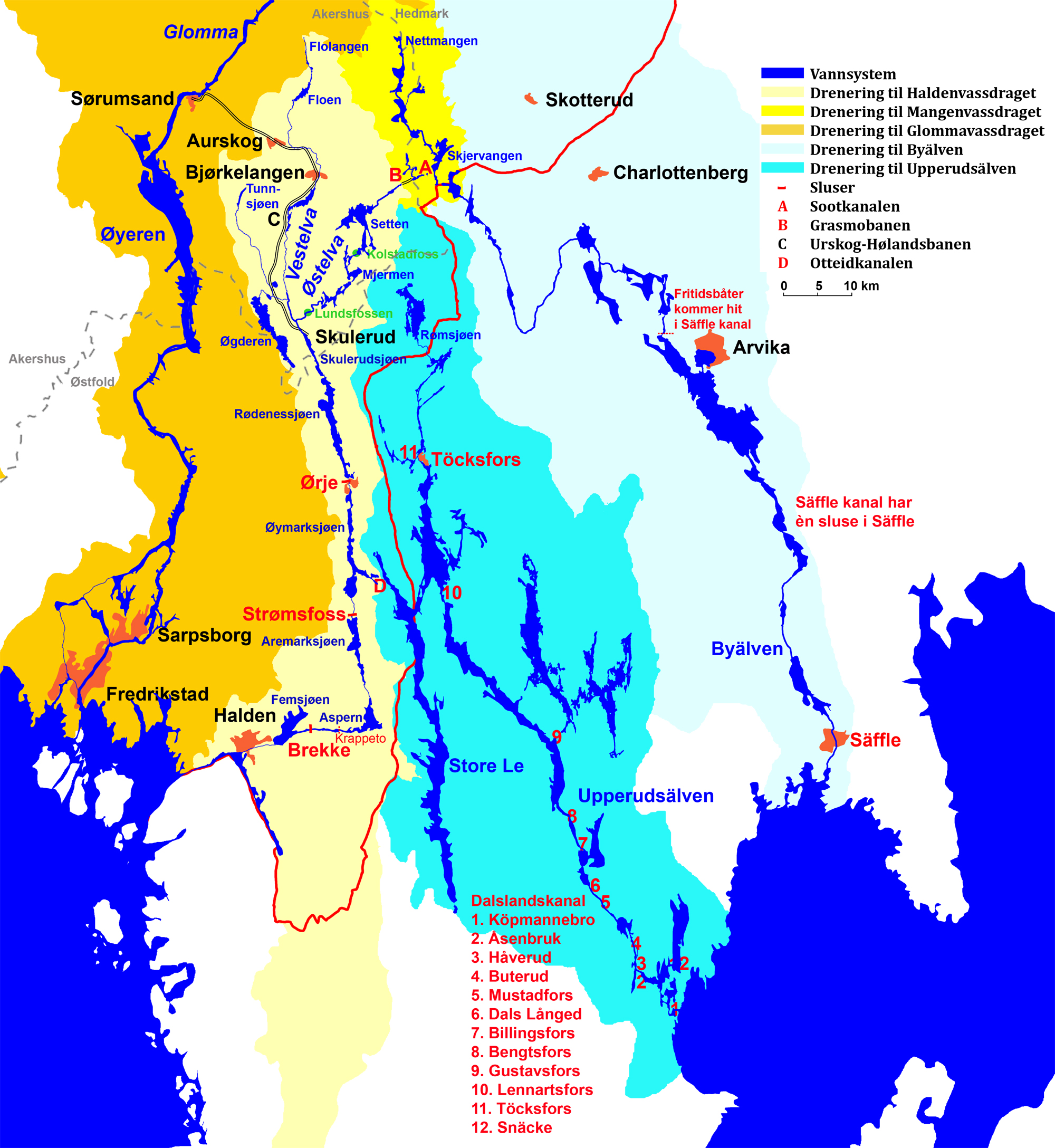 sootkanalen kart Fil:Map Haldenwaterway with neighbour waterways. – Wikipedia sootkanalen kart
