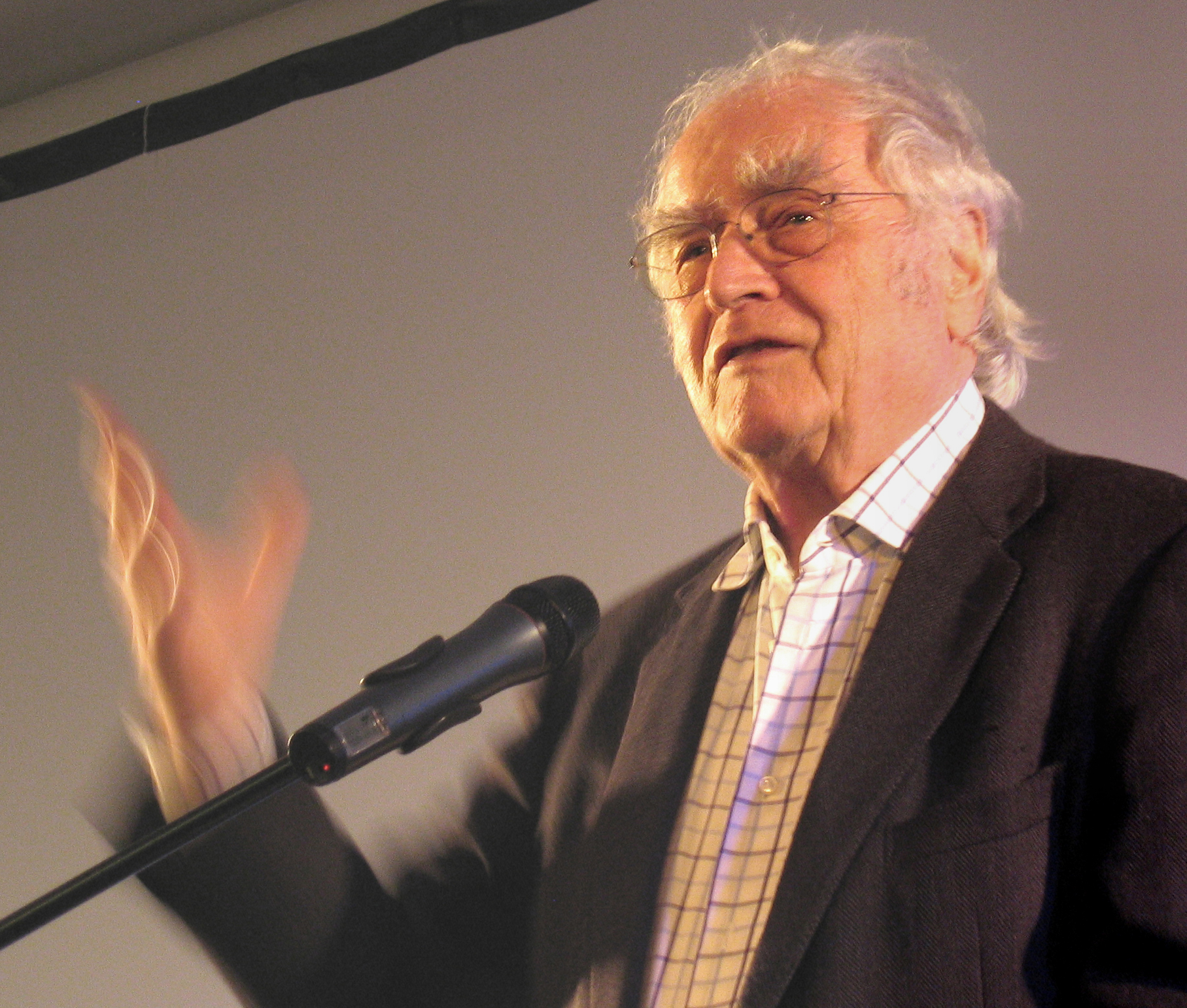 Walser at a book presentation in Aachen, Germany, in2008