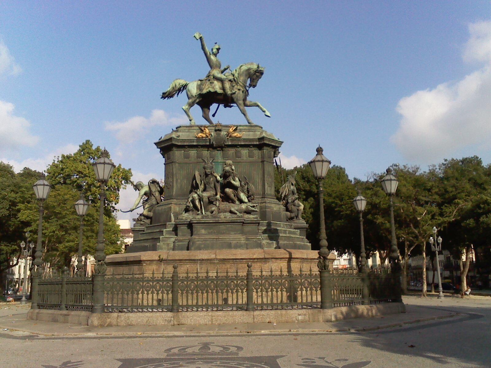 Estátua equestre de D. Pedro I – Wikipédia a enciclopédia livre #3C628F 1600x1200