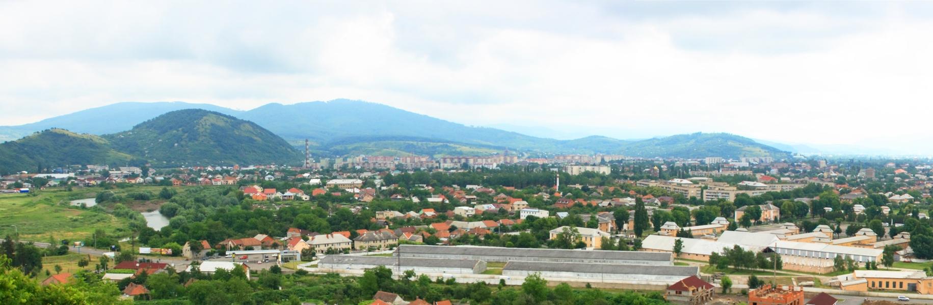 Вид на центральную часть города с Замковой горы