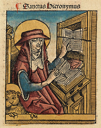St Jerome in the Nuremberg Chronicle Nuremberg chronicles f 135r 1.jpg