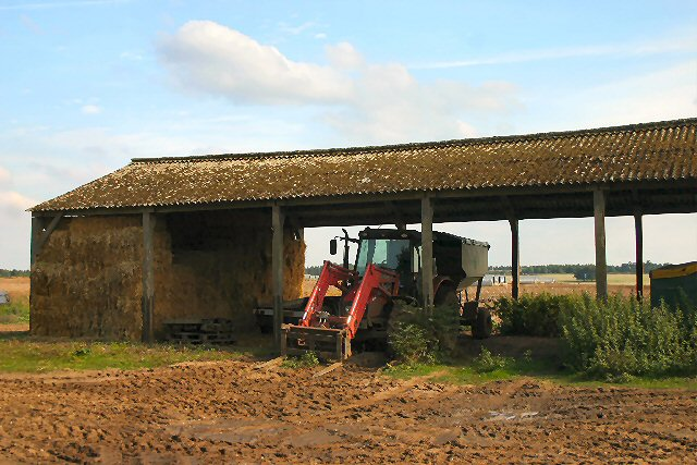 Metal Tractor Barns : File open barn and tractor euston estate geograph