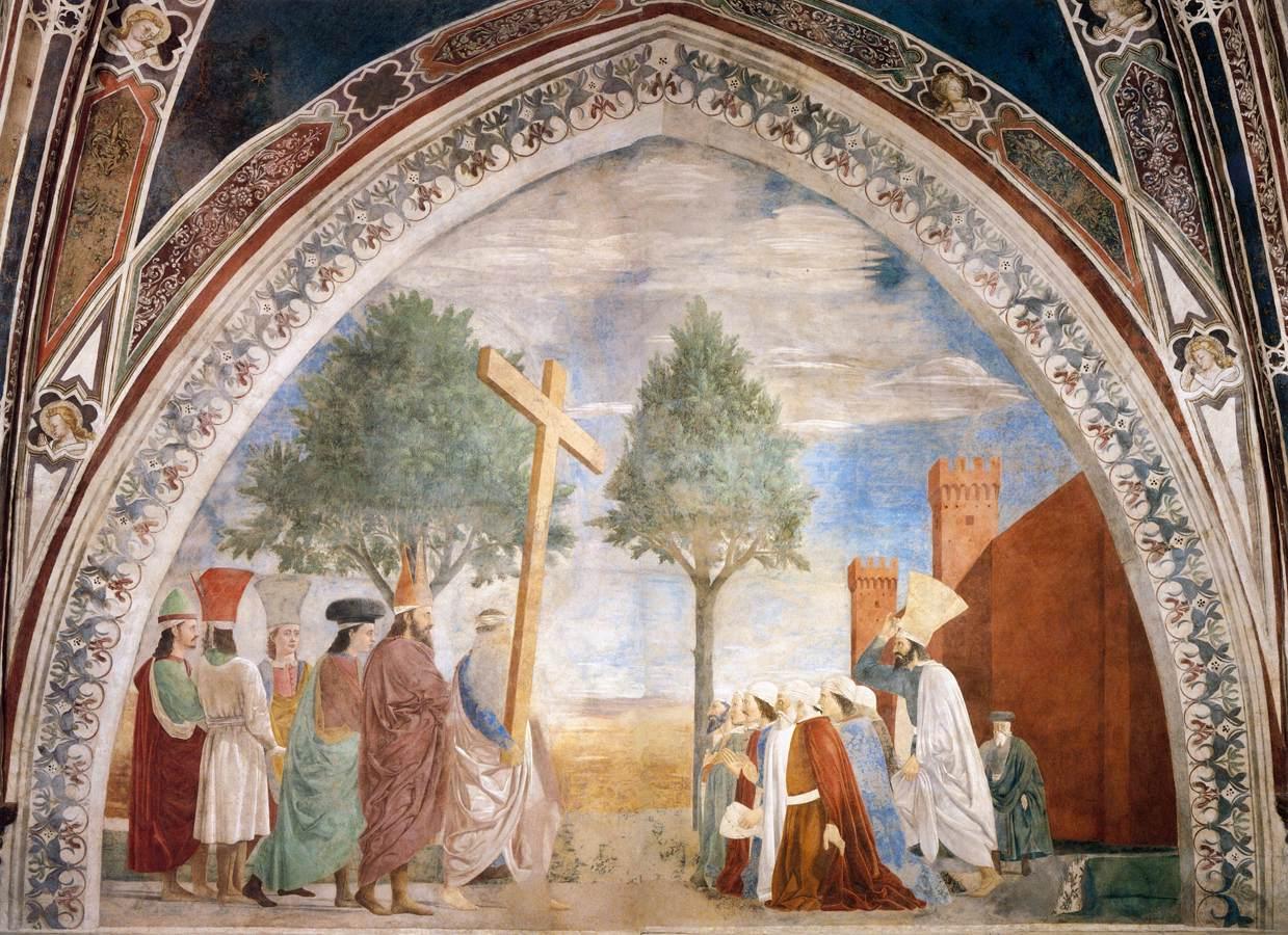 Piero della Francesca,Esaltazione della croce, Basilica di San Francesco, Arezzo