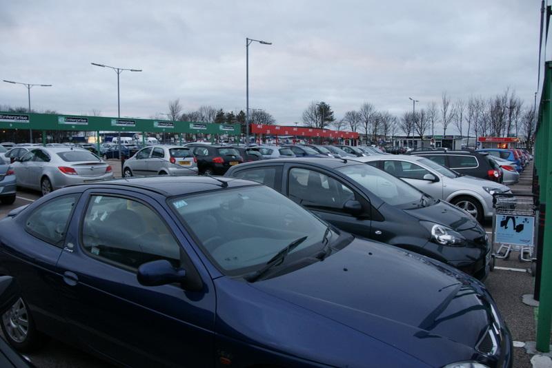 Rental hire car park, Aberdeen Airport - geograph.org.uk - 1753677