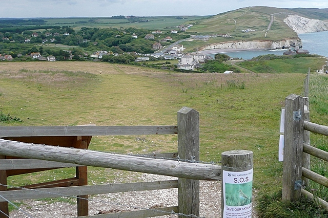 Route off Tennyson Down - geograph.org.uk - 1377830