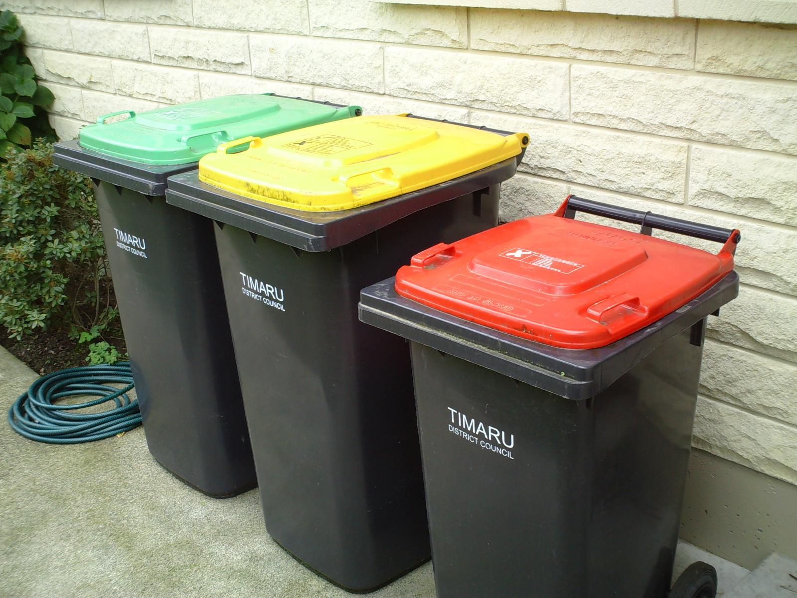 filerubbish and recycling bins trash cans in new zealandjpg